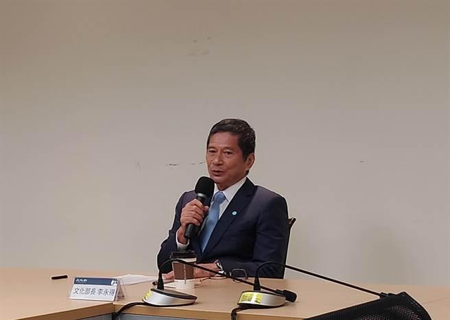 文化部長李永得說明公視第7屆董監事候選人提名原則。(王寶兒攝)