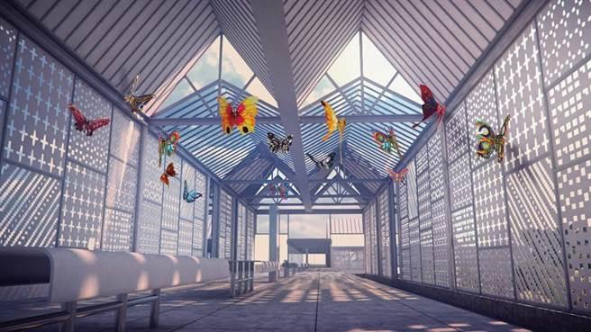 安坑輕軌K8站公共藝術模擬圖。(新北市捷運局提供/葉德正新北傳真)