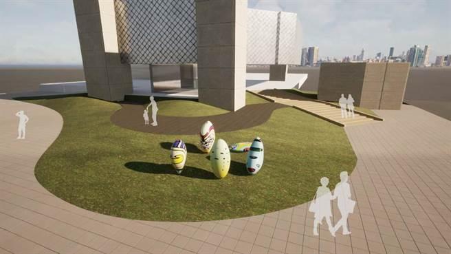 安坑輕軌K2站公共藝術模擬圖。(新北市捷運局提供/葉德正新北傳真)
