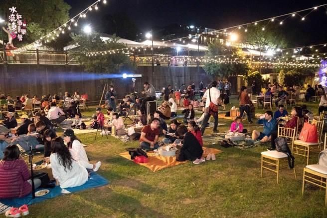 「水流東紅酒音樂季」在外埔星月大地景觀休閒園浪漫登場。(星月大地提供/陳淑娥台中傳真)