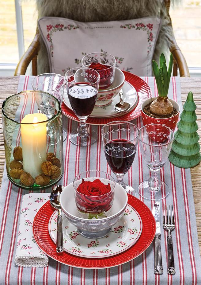 圖一:GREENGATE為年末的聖誕、新年推出的Elouise 玫紅優雅系列。(GREENGATE提供)