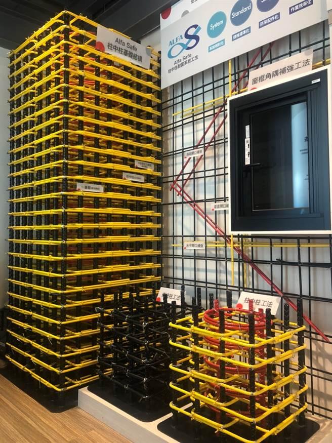 築億丰盛採用戴雲發的Alfa Safe柱中柱工法,結構穩固安全。(圖/業者提供)
