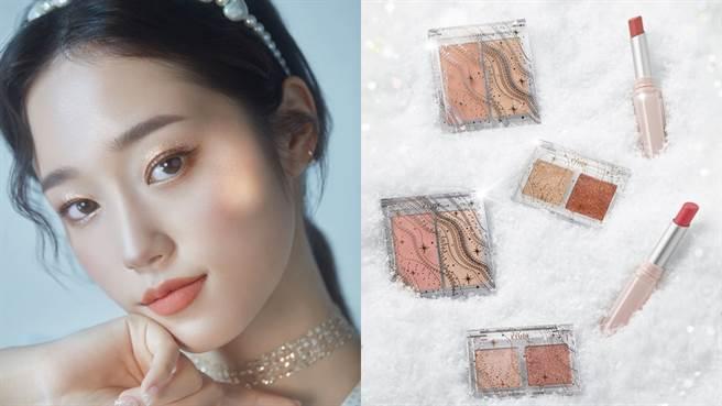 2020年ETUDE推出雪燦聖誕系列,包含保養及彩妝等限量商品。(圖/品牌提供)