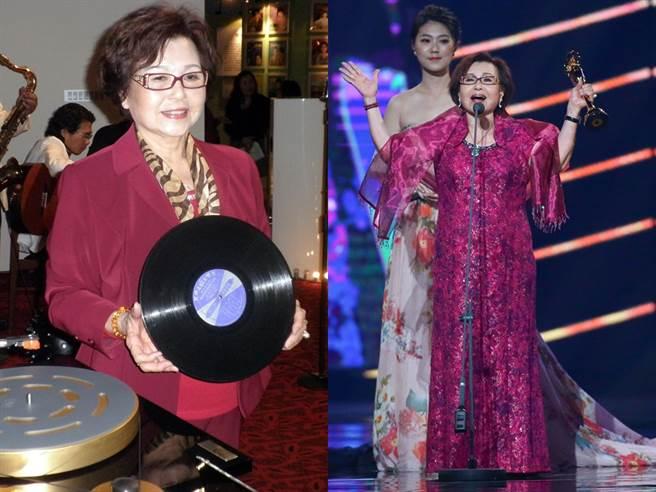 紀露霞84歲仍活躍歌壇,並提攜後輩。(圖/中時資料照)