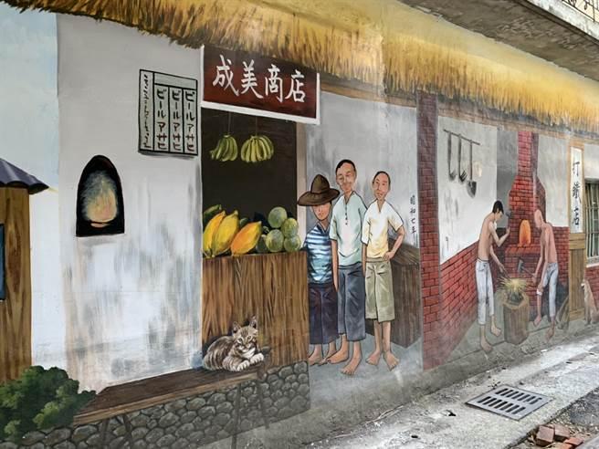 南崁里長邱顯助將南崁後街原本簡陋的巷弄,改造成充滿歷史文藝氣息的街巷,原汁原味呈現日本時代的南崁風貌。(姜霏攝)