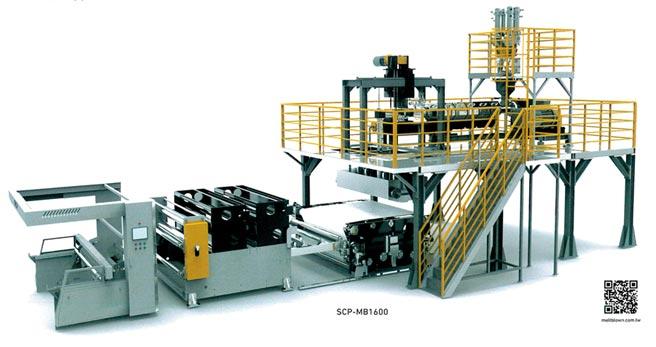 上大嘉建構的SCP-MB1600熔噴不織布生產線,生產能力與國際大廠互與爭鋒。圖/業者提供