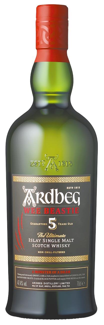 被喜好者暱稱為「阿貝」的Ardbeg雅柏,近期全新作品Wee Beastie小野獸上市。(雅柏提供)飲酒過量有礙健康