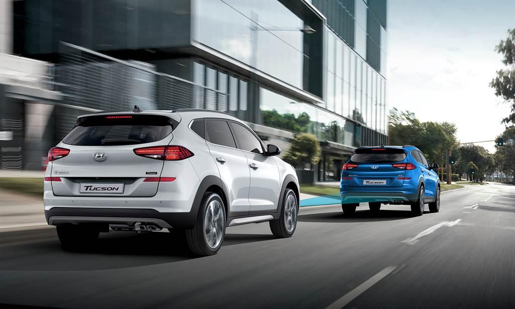 Tucson 2.0 Premium豪華款擁有全速域功能的「SCC智慧型主動車距維持系統」。
