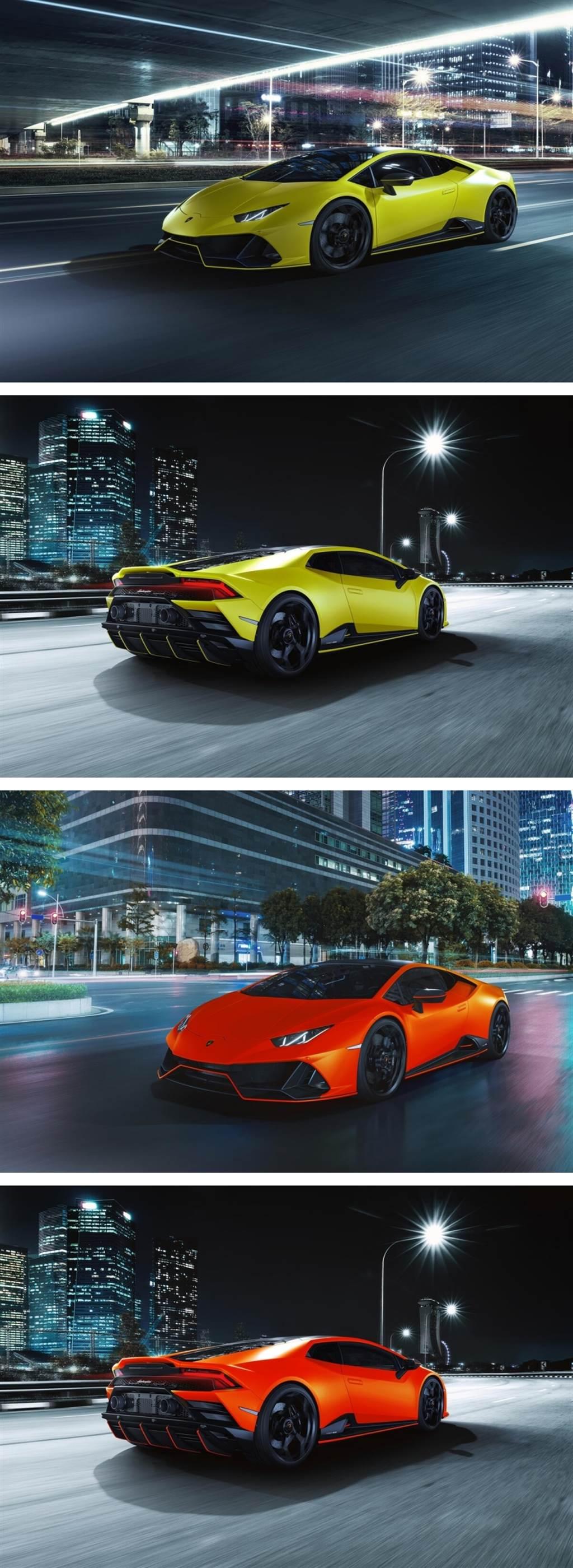 即使消光也要五彩繽紛!Lamborghini推出Huracán EVO Fluo Capsule彩色消光系列