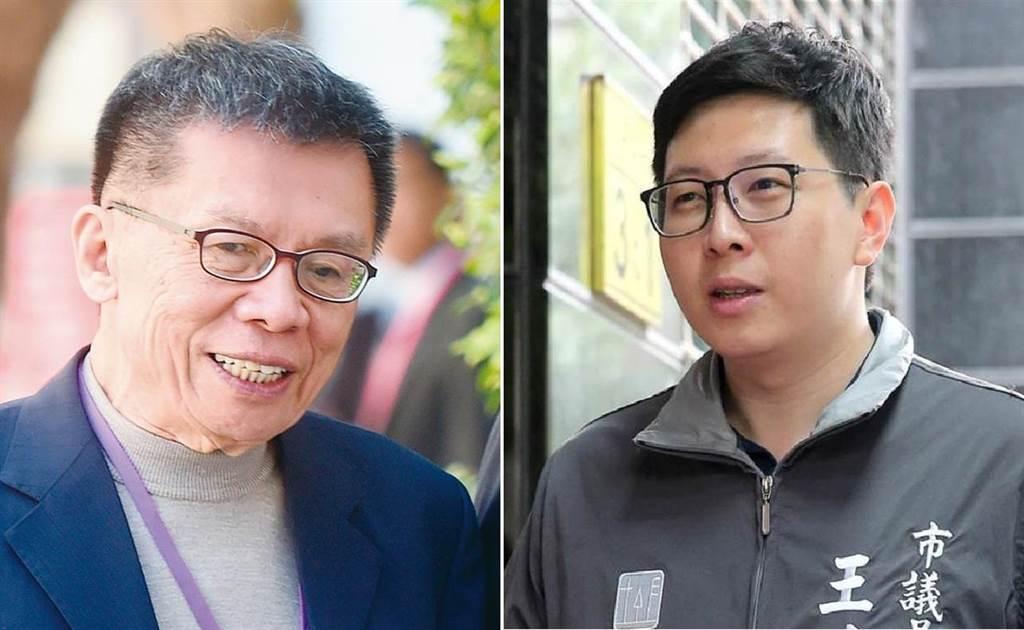 民進黨桃園市議員王浩宇(右),點名前民進黨立委 沈富雄(左),要求他就美大選預測失準說清楚。(圖/合成圖,本報資料照)