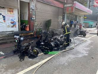 電動車起火 延燒周圍5台機車