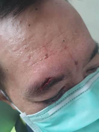 男子毒癮發作被噴辣椒水 竟發狂用頭撞員警