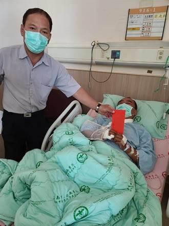 野狗肆虐害翁摔車 鎖骨斷裂衰躺醫院