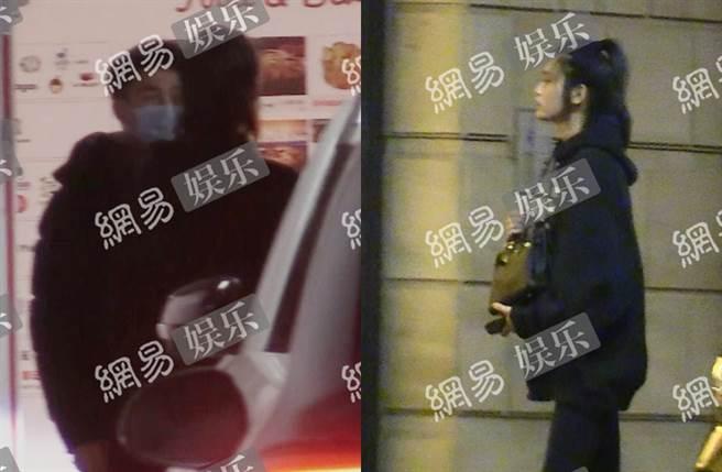 何猷君與奚夢瑤被拍在停車場大吵。(圖/翻攝自網易娛樂微博)