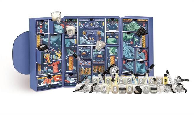 diptyque聖誕限量月曆,1萬7500元。(diptyque 提供)
