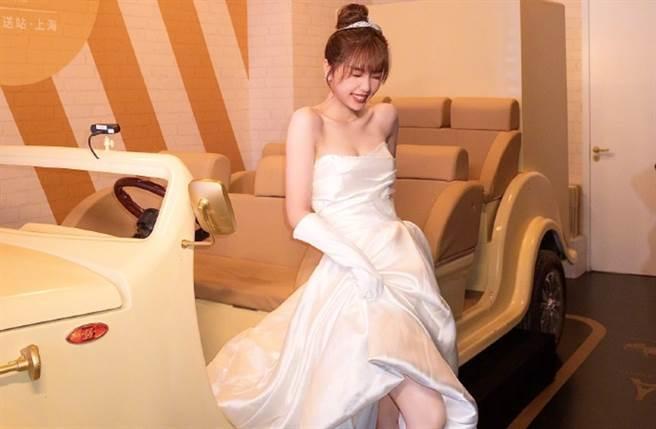 24歲大陸女星虞書欣目前是女團「THE9」組合成員,以甜美形象和活潑個性圈粉無數。(圖/摘自微博@THE9-虞书欣)
