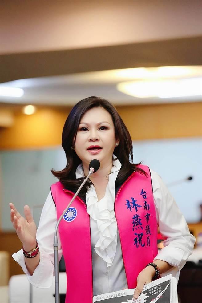 台南市議員林燕祝再爆女學生自小學、國中連遭性侵的案件。(國民黨台南市議會黨團提供/程炳璋台南傳真)