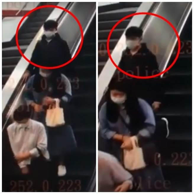 內湖捷運站日前出現剪髮怪客,犯嫌5日確定落網。(圖/記者李文正翻攝)