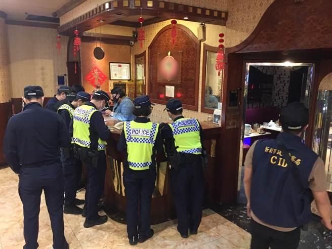 新北市警察局自10月16日起進行為期2周「防制營業場所毒品犯罪專案行動」。(新北市刑大提供)