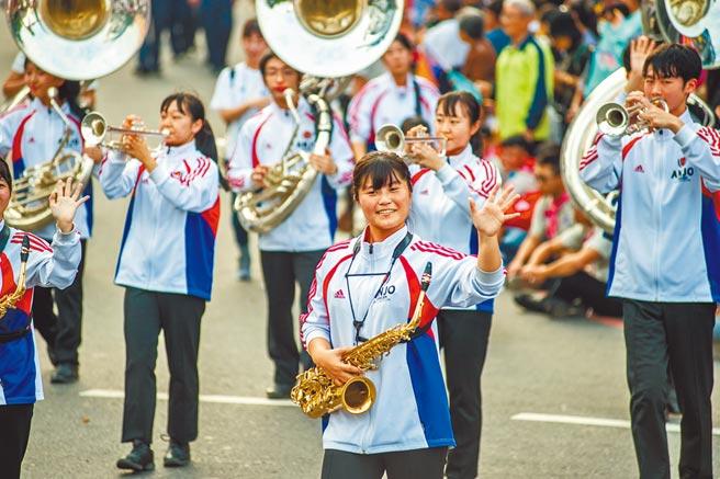 國外樂團往年參加嘉義市國際管樂節表演,備受好評。(嘉義市政府提供/廖素慧嘉市傳真)