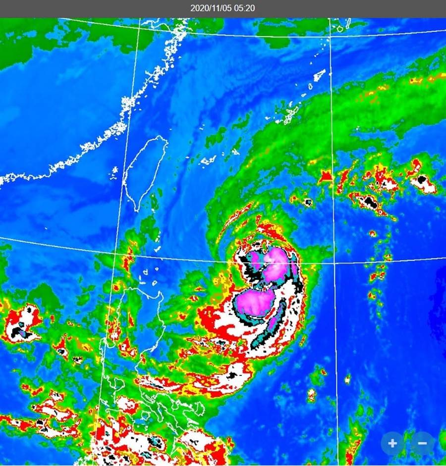 閃電颱風08:30發海警。(氣象局)