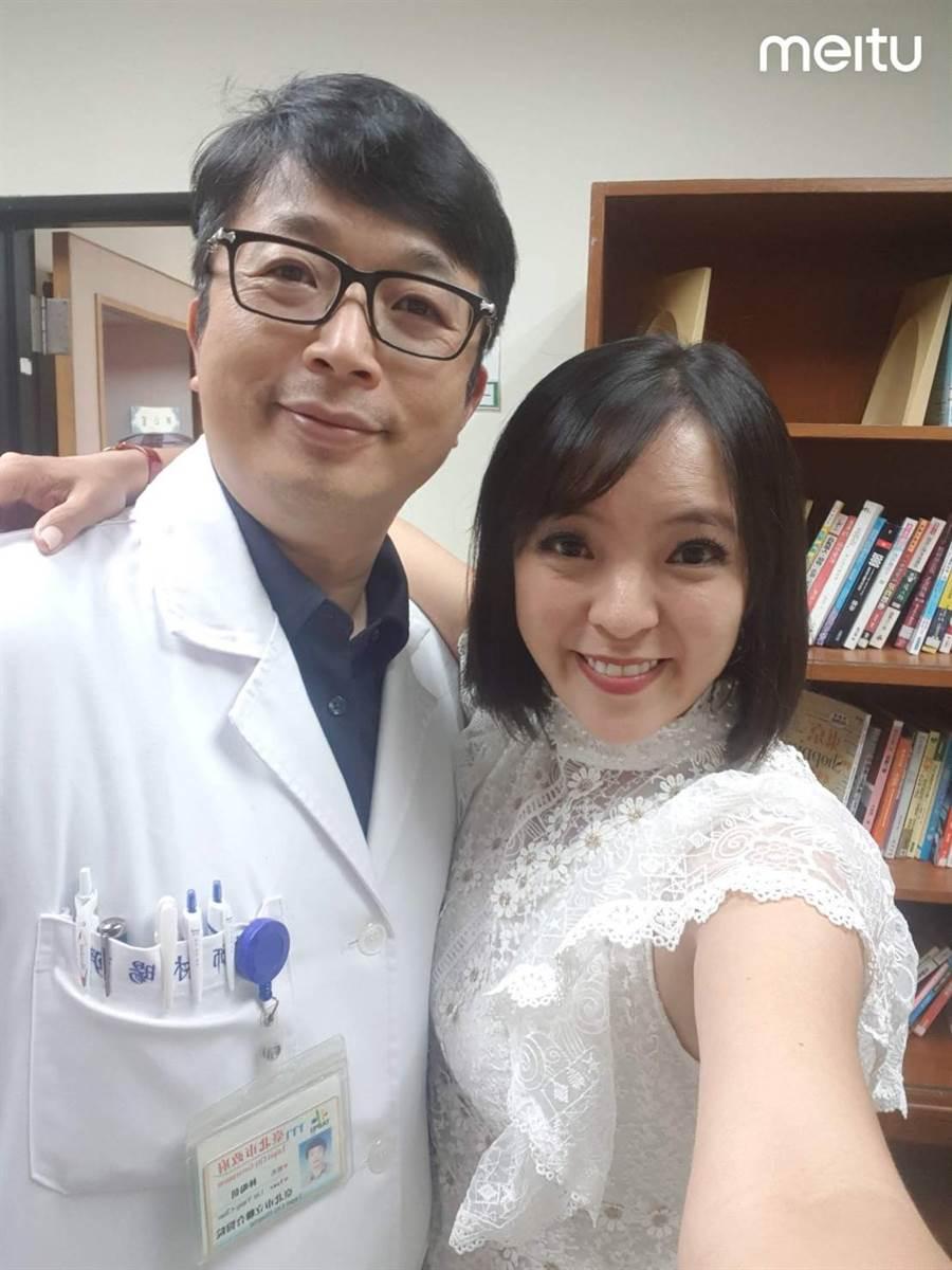 宣宣醫師林暘朝去年5月登記結婚,兩人過著美滿婚姻生活。(照片/宣宣 提供)