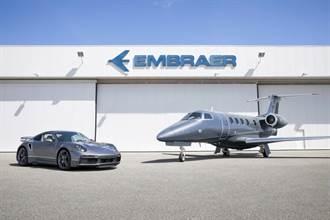 1100萬美元陸空大進擊!Porsche與巴西航空工業Embraer聯名推出911 Turbo S與商務噴射客機