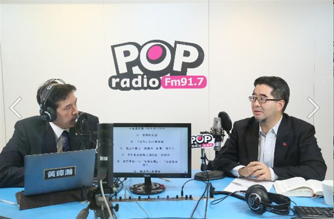 蕭旭岑接受廣播訪問(POP撞新聞提供)