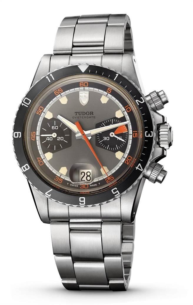 帝舵表在1970年问世第一款计时码表,因表盘的五角形夜光钟点标记而有「本垒板」的昵称。(TUDOR提供)
