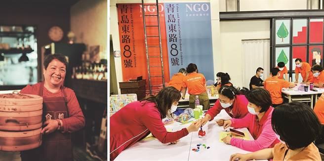左:透過與眾人分享自己的手藝,讓樂齡生活更有趣。(圖/食憶)右:桌遊有趣益智,參與的樂齡族都樂此不疲。(圖/瘋桌遊)