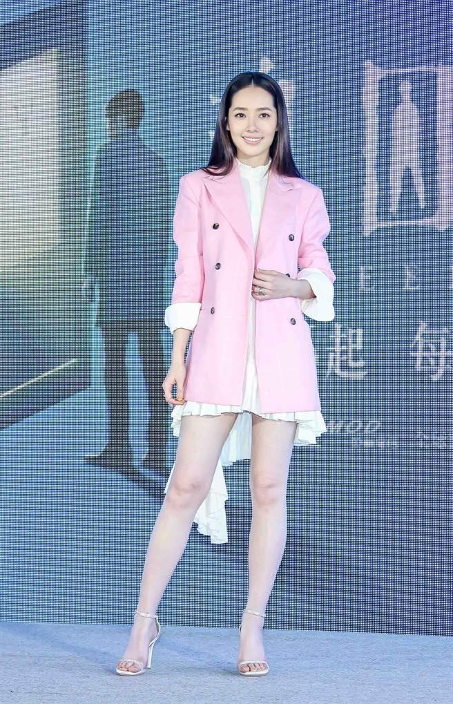 郭碧婷去年曾在台灣公開亮相,產前身材纖細。(圖/中時資料照)
