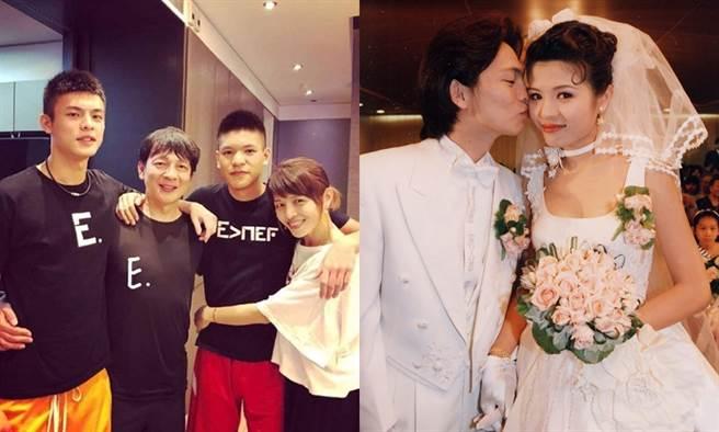 林叶亭和高人杰结婚,生下两帅儿。(图/IG@lin_yehting;中时资料照)