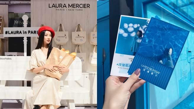 美妝控本周末不能錯過兩大人氣品牌蘿拉蜜思、理膚寶水推出的限時快閃店。(圖/品牌提供、邱映慈攝影)