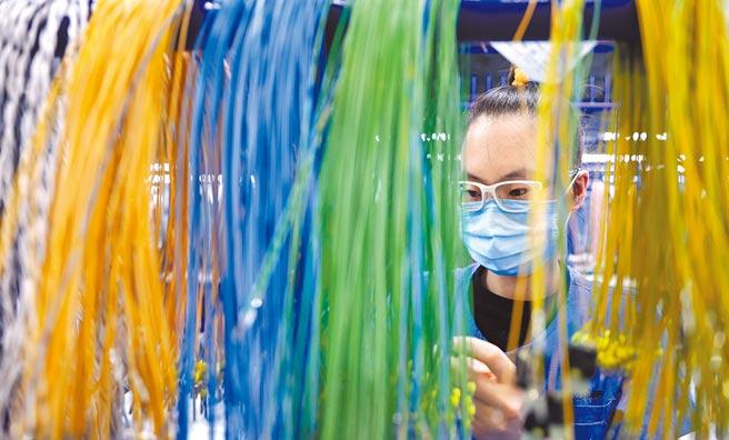 遼寧鞍山外資企業員工在生產線上忙碌。(新華社資料照片)