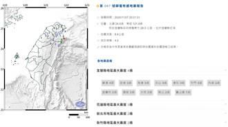 地牛翻身!宜蘭外海極淺層地震規模4.3 深度僅8公里