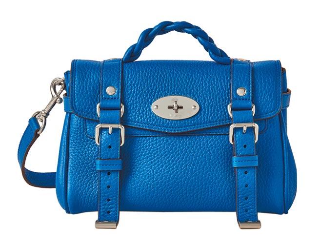 Mulberry海軍藍標準Alexa包,4萬2000元。(Mulberry提供)