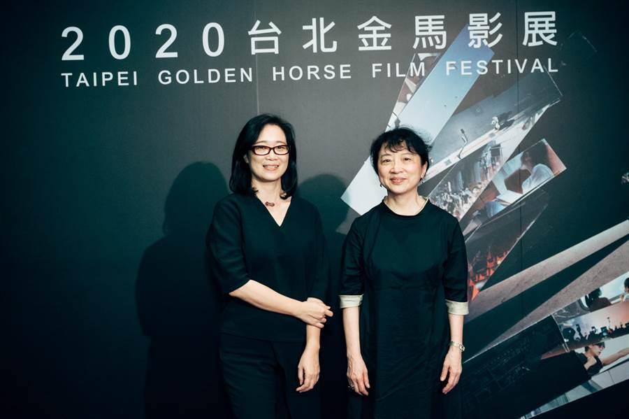 朱天文与雷光夏出席金马影展。(金马执委会提供)