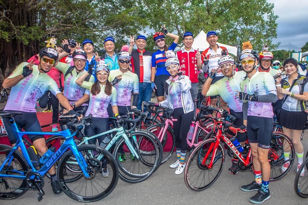 竹县单车约会PA活动,8日在竹东河滨公园热闹登场。(罗浚滨摄)