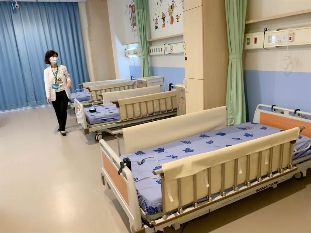 全國首座高齡整合長照中心,設有全國首創重大兒虐致重度障礙照護專區「飛象家園」,規畫49床提供兒童創傷復元。(柯宗緯攝)