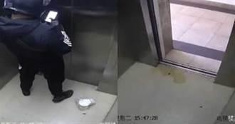 外送員電梯裡拉下拉鍊掏出寶貝 監視器曝光住戶拳頭硬了