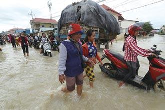 柬埔寨填湖引發洪水