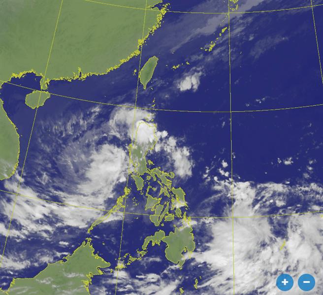 艾陶颱風最快明形成 氣象局曝預測路徑。(氣象局 衛星雲圖)