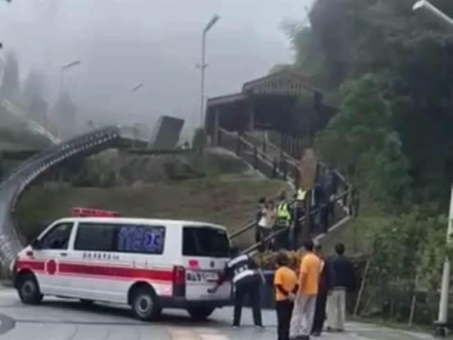男子最後被救護車載到大林慈濟醫院治療。(讀者提供/張毓翎嘉義傳真)