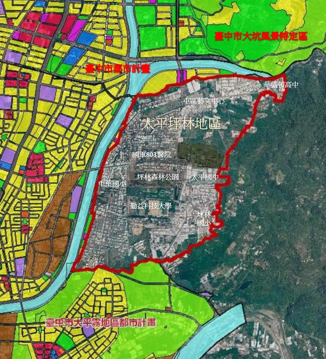 台中市府明年將啟動太平區坪林地區都市計畫,盼藉此達到發展屯區。(市府提供/林欣儀台中傳真)