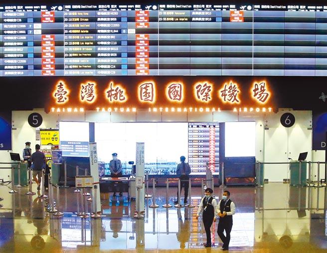 蒙古本土病例持续增加 即起调整为中低风险国家。示意图为在桃园机场第二航厦中,空荡荡的出境大厅不见往日排队出国的人潮。(资料照 范扬光摄)