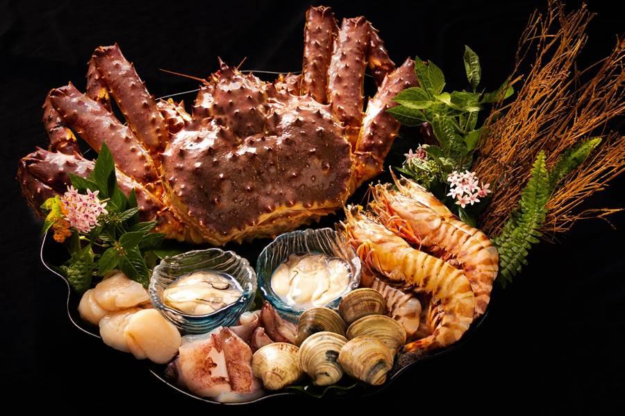 華國但馬屋「帝王海鮮鍋」。(台北華國大飯店提供)