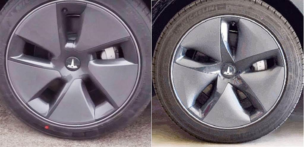 ▲ 左:新版 Model 3 節能蓋,右:舊版 Model 3 節能蓋。