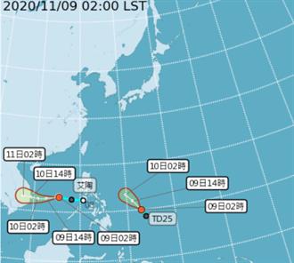 艾陶成颱 梵高最快今接力生成 最冷16度時間出爐