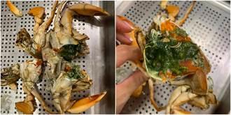 好市多螃蟹驚見綠色蟹膏能吃嗎?營養師揭恐怖真相
