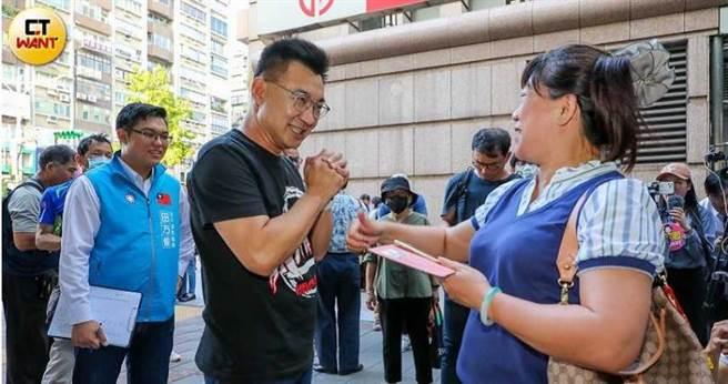 國民黨主席江啟臣就被力拱投入2022年桃園市長選舉。(圖/馬景平攝)